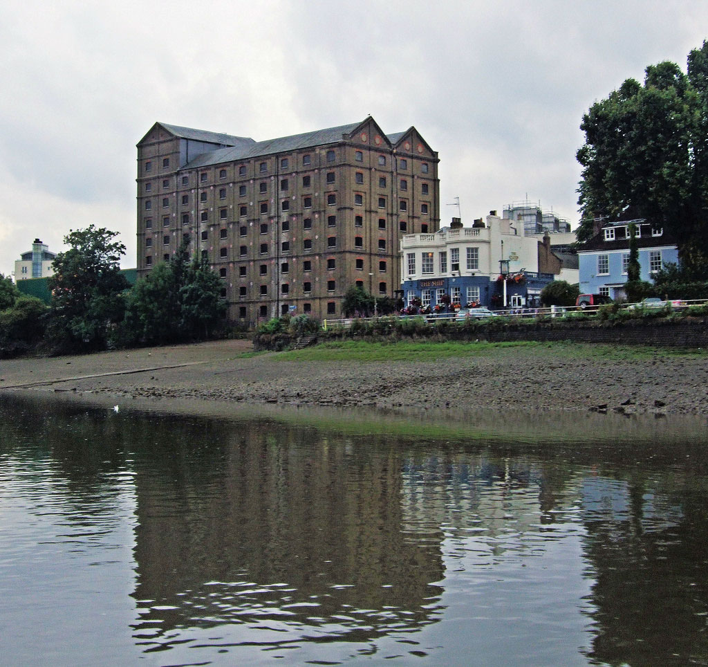 Stag Brewery from river